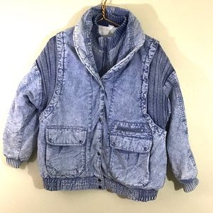 VTG Prezzia 80's Acid Wash Denim Jean Jacket Small
